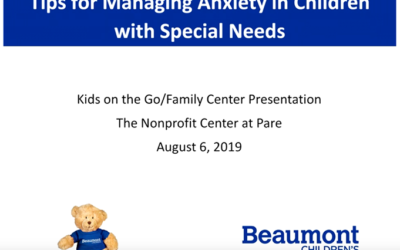 Tips For Managing Anxiety for Children with Special Needs